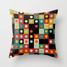 Colors on black Throw Pillow