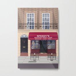 Sherlock in Baker Street Metal Print
