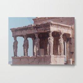 Caryatids the Acropolis Greece Metal Print