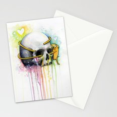 Jake the Dog and Skull Stationery Cards