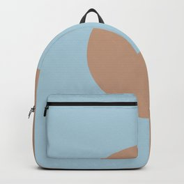 Brown Pastel Blue Minimal Half Circle Design 2021 Color of the Year Canyon Dusk & Early September Backpack