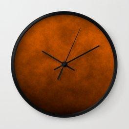 Dark Pumpkin Orange Haunted Harvest Corn Field Fog Wall Clock