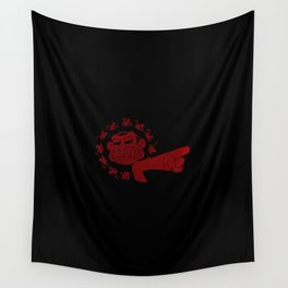 12 Evil Monkeys Wall Tapestry