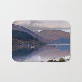 Argyll Scotland loch peaceful boats Bath Mat