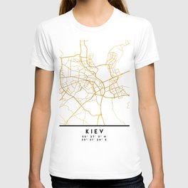 KIEV UKRAINE CITY STREET MAP ART T-shirt