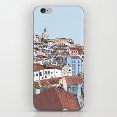 Lisbon cityscape - colours iPhone & iPod Skin
