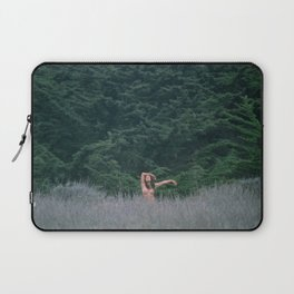 Blurry Greens Laptop Sleeve