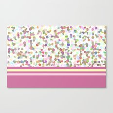 Lots of Dots with Mauve Canvas Print