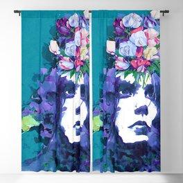 Flower man Blackout Curtain