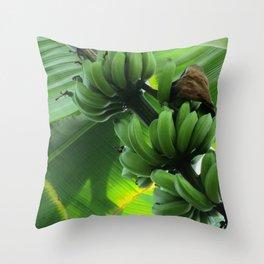 Bananas Growing Throw Pillow