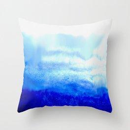 Etheral Blue Throw Pillow