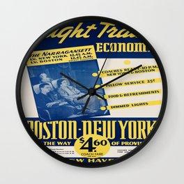 Vintage poster - Night Train Economy Wall Clock