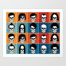 Hairstyles for Skulls Art Print