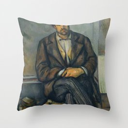 Paul Cézanne - Seated Peasant (1892–96) Throw Pillow