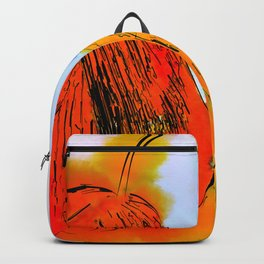 Pear And Apple watercolor Backpack