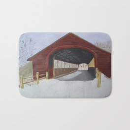 Covered bridge Bath Mat