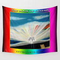 bible verse Wall Tapestries featuring THE BIBLE by KEVIN CURTIS BARR'S ART OF FAMOUS FACES