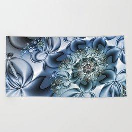 Dynamic Spiral, Abstract Fractal Art Beach Towel