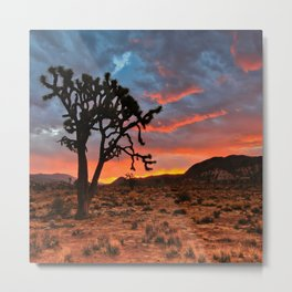 Joshua Tree Sunrise Metal Print