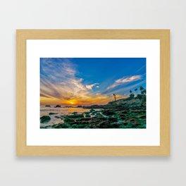 Low Tide Laguna Sunset Framed Art Print