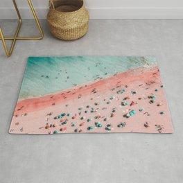 Aerial Beach Print, Ocean Art, Bondi Beach, Beach Art Print, Beach Photography, Modern Beach Lifestyle Print Rug