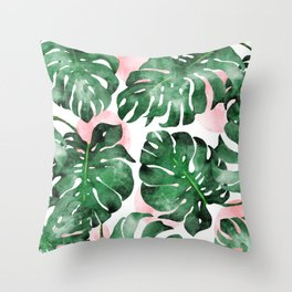Stay Rooted In Your Power #tropical #painting Throw Pillow