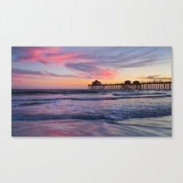 Huntington Beach Sunset  8/3/15  Canvas Print
