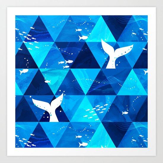 Blue Whale Singing Art Print