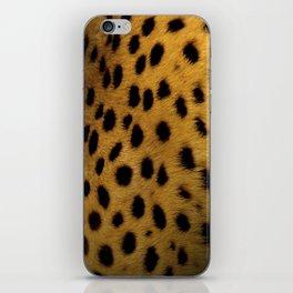 Cheetah Disappearing into Black Velvet iPhone Skin