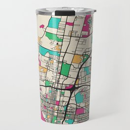 Colorful City Maps: Albuquerque, New Mexico Travel Mug