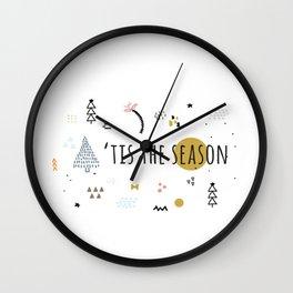 Minimal Holiday Designs :: 'Tis The Season Wall Clock