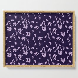 Seamless digital military fashion camo pattern. Tetris. Puzzle. Purple background. Serving Tray