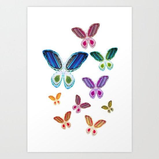 A Rainbow of Agate Butterflies by scubaprincess