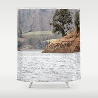 once upon a  time Shower Curtains featuring Once upon a Time by Four Hands Art