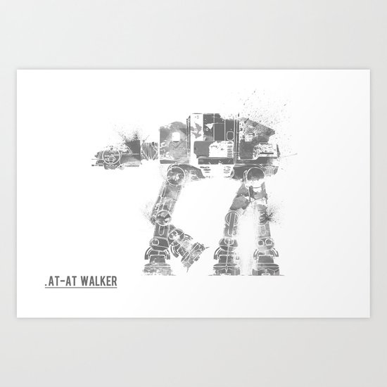 Star Wars Vehicle AT-AT Walker Art Print