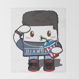 Kawaii Slushy Throw Blanket