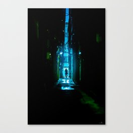 Replicant in the Rain Canvas Print