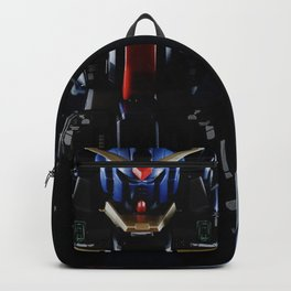 Blue Gundam in the Dark Backpack