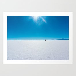 In the Distance, Salar de Uyuni, Bolivia Salt Flats Art Print