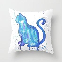 Cat Drip Throw Pillow