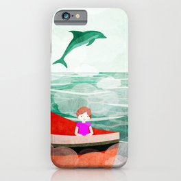 When dolphins are around 5 iPhone Case