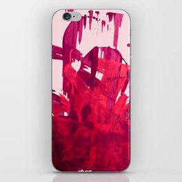 Embers: a vibrant abstract piece in pinks iPhone Skin