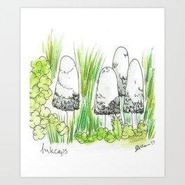 Inkcaps Art Print