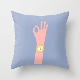 Cool Hand Illustration Throw Pillow