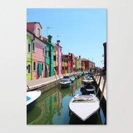 Burano summer Canvas Print
