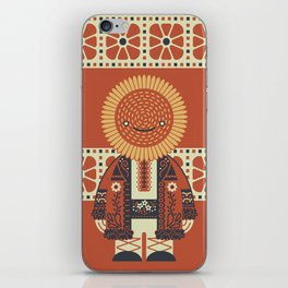 Sunflower Brother iPhone Skin