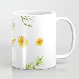 Bees in the Garden v.3 - Watercolor Graphic Coffee Mug