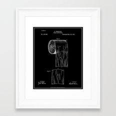 Toilet Paper Roll Patent - Black Framed Art Print