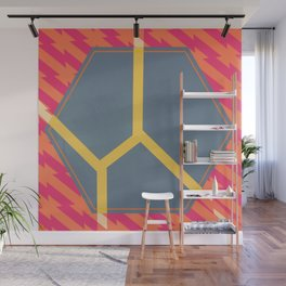 To Bee or Not - pink/orange graphic Wall Mural
