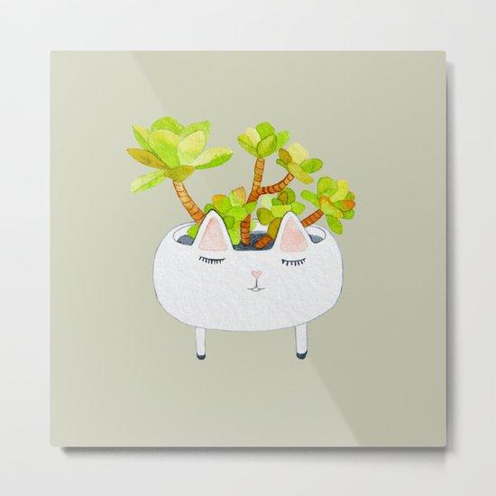 Kawaii succulents Metal Print